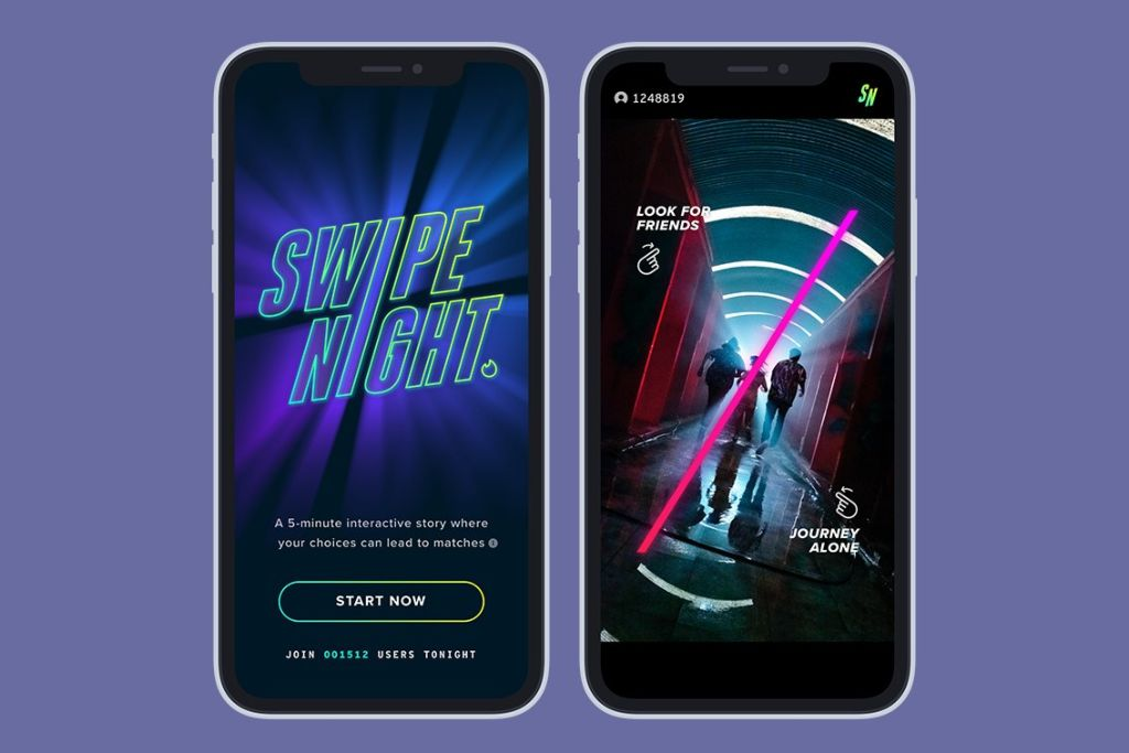 """Tinder Launches Interactive In-App Event """"Swipe Night"""" In India"""