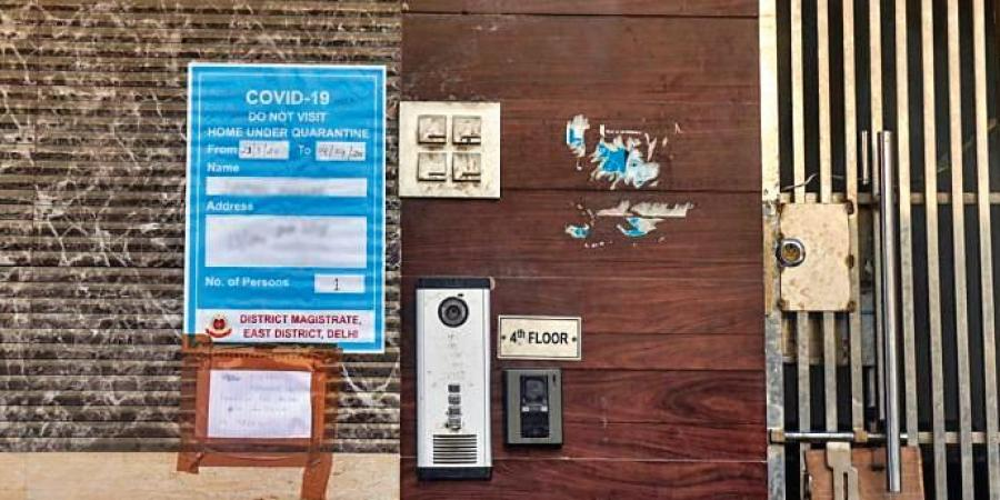 No more posters in front of the homes of Covid-19 patients isolated in their homes in Delhi